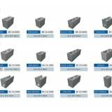Bloco feito de concreto em Hortolândia