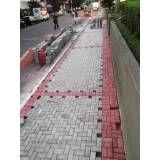 Onde tem obras de tijolos intertravados no Jaraguá