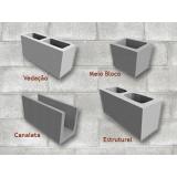 Preço de bloco feito de concreto na República