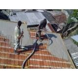 Preparação do concreto em Cananéia