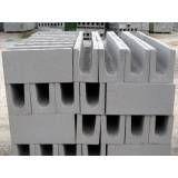 Valor de bloco de concreto  em Santa Isabel